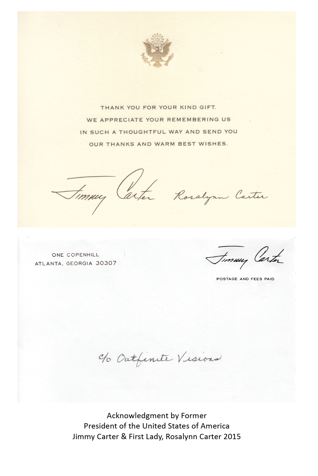Letter from Former United States President Jimmy Carter