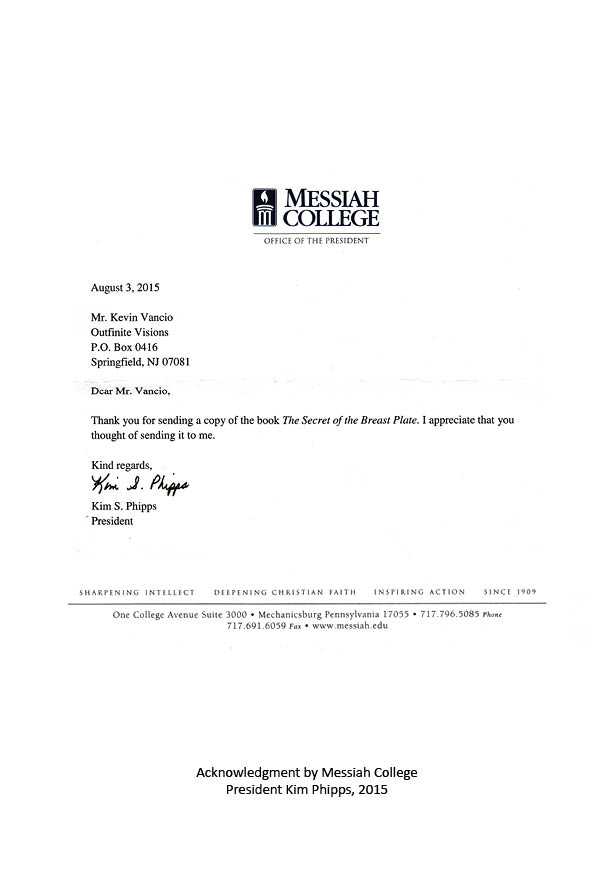 Letter from the President Kim Phipps of Messiah College