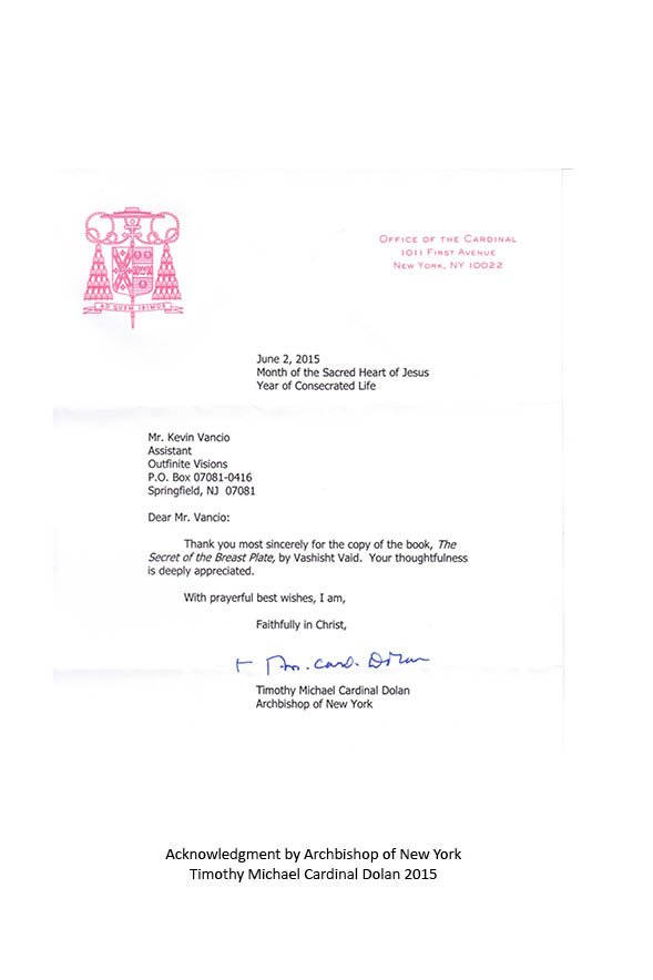 Letter from Timothy Michael Cardinal Dolan, Archbishop of New York