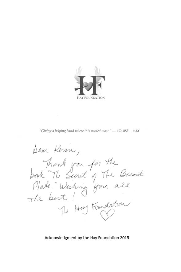Letter from Louise Hay of the Hay Foundation
