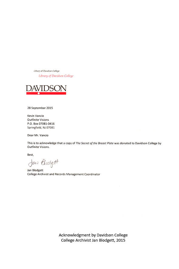 Letter from Davidson College