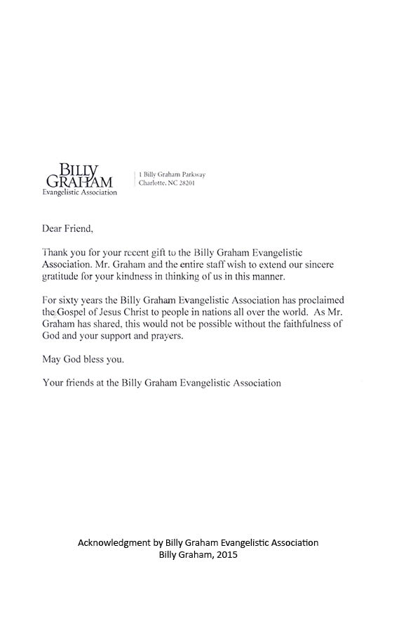 Letter from Billy Graham