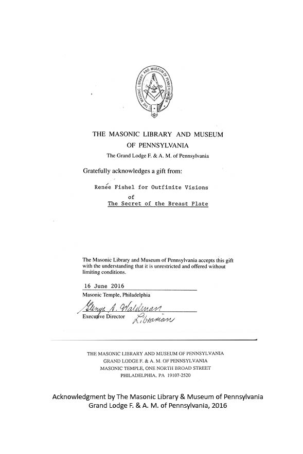 Letter from the Masonic Library and Museum of Pennsylvania